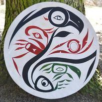 Šamanský buben malovaný 50 cm - Duch Přírody