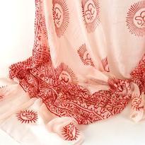 Šátek mantra - bílý