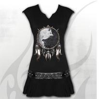 Krátké šaty Vlci Jin Jang  S
