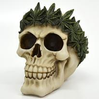 Skeleton kasička - lebka s konopnou korunou