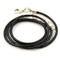Šňůrka s karabinkou splétaná 45 cm, černá
