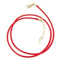 Šňůrka s karabinkou splétaná 45 cm, červená