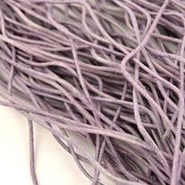 Šňůrka bavlna voskovaná fialová 2 mm, 100 cm