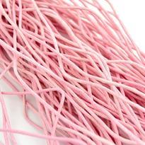 Šňůrka bavlna voskovaná růžová 2 mm, 100 cm