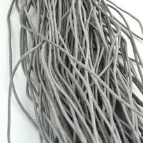 Šňůrka bavlna voskovaná šedá 2 mm, 100 cm
