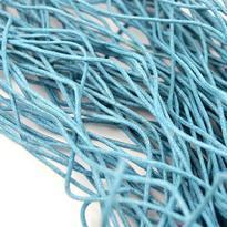 Šňůrka bavlna voskovaná tyrkysová 2 mm, 100 cm