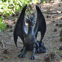 Socha exclusive mytology Černý drak Strážce 37 cm