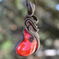 Fantasy přívěsek Kámen mágů, červený
