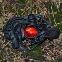 Fantasy spona do vlasů Životní síla, červená