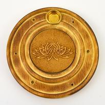 Stojánek talířek exclusive dřevo - Lotosový květ