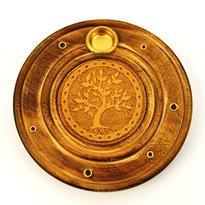 Stojánek talířek exclusive dřevo - Strom Života