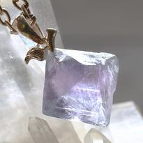 Přívěsek fluorit krystal, úchytka stříbro Ag 925