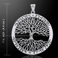 Přívěsek Strom života Wicca, stříbro Ag 925