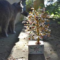 Stromeček štěstí - Mix polodrahokamů, 320 kamínků