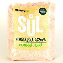 Country Life Sůl himalájská růžová jemná 1 kg