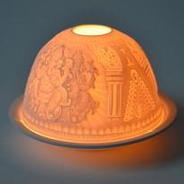 Porcelánový svícen Ganesha