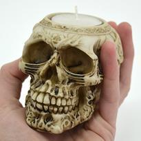 Skeleton - svícen lebka na čajovou svíčku