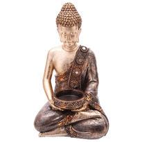 Svícen na čajovou svíčku s thajským Buddhou