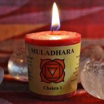 Svíčka čakra 1 - kořenová Muladhara