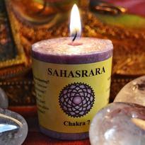Svíčka čakra 7 - korunní Sahasrara