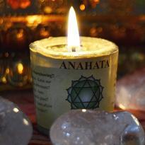 Svíčka čakra 4  - srdeční Anahata