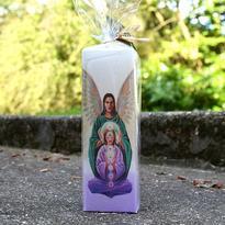 Svíčka archanděl Ariel hranol 5 x 15 cm