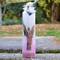 Svíčka archanděl Gabriel válec 6 x 20 cm
