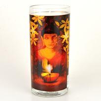 Svíčka ve skle velká 14 cm - Buddha