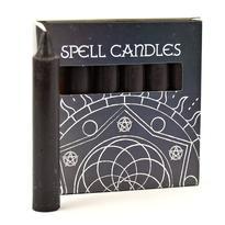 Magické svíčky 6 ks, černá