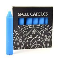 Magické svíčky 6 ks, modrá světlá