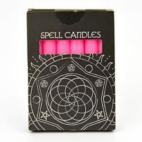 Magické svíčky 6 ks, růžová