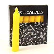 Magické svíčky 6 ks, žlutá