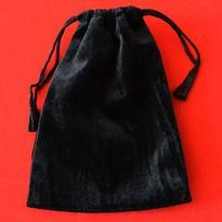 Sametový sáček 14,5 x 21,5 cm - černý