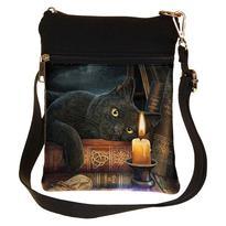 Taška přes rameno mini fantasy - Černý kocour