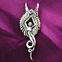 Přívěsek Anděl strážný, stříbro Ag 925
