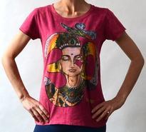 Dámské tričko orient - Om s Buddhou