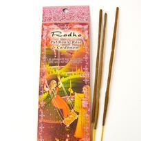 Vonné tyčinky Radha - Patchouli, růže, kardamom