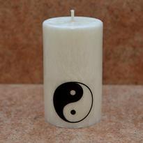 Svíčka Jin - Jang malá 6 x 10 cm
