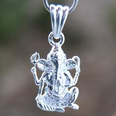 Přívěsek Stříbrný Ganesha - hojnost a štěstí