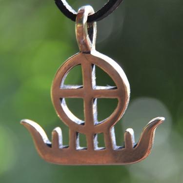 Přívěsek - Sluneční bárka, bronz
