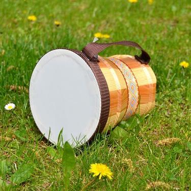 Dřevěné bongo - bubínek pro děti  - 1