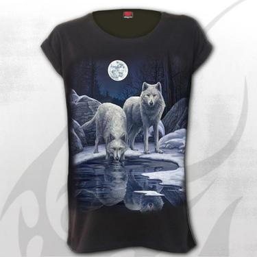 Dámské tričko Bílí vlci S
