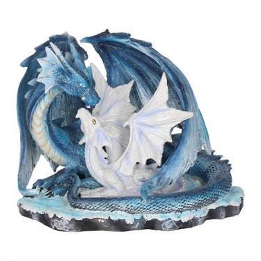 Socha fantasy exclusive - Matka drak s mládětem  - 1