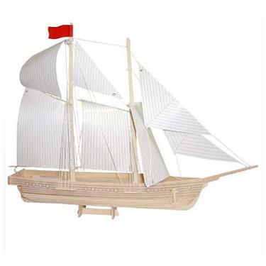 Škuner - 3D dřevěné puzzle  - 1
