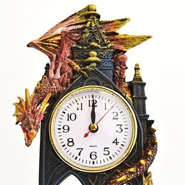 Hodiny fantasy - Drak - Strážce času  - 1