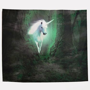 Šátek - přehoz Bílý jednorožec v pralese  - 1