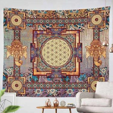 Šátek - přehoz Květ Života - Ganesha 200 x 150 cm