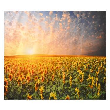 Šátek - přehoz Pole slunečnic  - 1