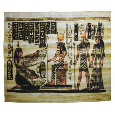 Šátek - přehoz Egypt - Maat, Isis, Horus, Farao  - 1