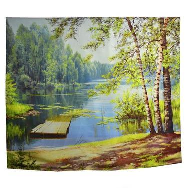 Šátek - přehoz Léto na jezeře  - 1